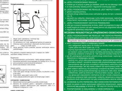 tablica z instrukcjami pierwszej pomocy