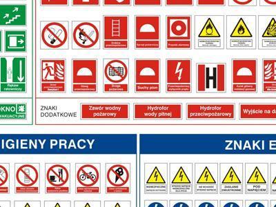 tablica znaków pożarowych